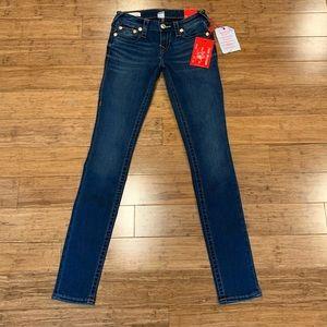True Religion Stella Low Rise Skinny Jeans NWT!